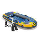 Intex 68370EP Challenger 3 Inflatable Raft Boat Set With Pump And Oars Yellow
