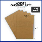200 Chipboard Cardboard Craft Scrapbook Scrapbooking Photo Pads Sheets 55 x 7