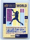 2011 UD WORLD OF SPORTS #AW-FI JENNIE FINCH AUTOGRAPH AUTO, USA SOFTBALL, 080114