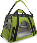 Pet Carrier Soft Sided Large Cat Dog Comfort Spinach Green Bag Travel Approved