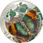 Ek // 1000 Francs CFA Silver Coin Central African Rep 2014 Papillons Exotiques