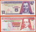 GUATEMALA   5&10 Quetzales   2003  2 notes  UNC