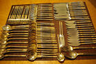 89 Pcs Wallace Aegean Weave 23k Gold Sterling Silver Flatware Silverware Great!!