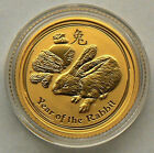 RARE ! ~2011~ 1/10th OZ PURE .9999 GOLD~ YEAR of the RABBIT ~ PERTH MINT~$239.88