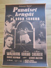 RED SHOES Michael Powell Original 1948 Finnish Movie Poster dance ballet
