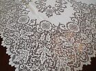 Floral Design Lace Tablecloth Ivory 84