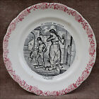 French Faience  Plate Language of Flowers Serie Wallflower H B Choisy 19th C