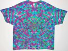 Adult TIE DYE Electric Blotter T Shirt hippie Small Medium Large XL hippie art
