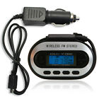 Car Wireless FM Transmitter MP3 Player+Car Adapter Charger for iPod MP3 Black