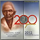 2012 TANDANG SORA 200 YEARS / COMMEMORATIVE Coin Set Issue.