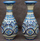 Henriot Quimper Blue and White Baluster Vases French Faience 1940