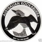 SILVER BULLION 999 COIN 1 OZ PERTH MINT KOOKABURRA 2011 COINS INGOT BAR FREE BAG