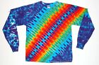 Adult L/S TIE DYE Rainbow DNA / Long Sleeve T Shirt art sm-xl hippie tye die