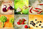6x6 Home Kitchen Decor Ceramic Art Painting_VEGETABLE_6pc Hand Craft Mosaic Tile