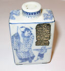 Antique Chinese Blue & White Snuff Bottle w/ Old Note re: Wrong Mark on Bottom
