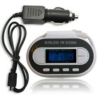 Car Wireless FM Transmitter MP3 Player+Car Adapter Charger for iPod MP3 White