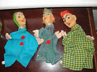 rare Punch & Judy ,Hand puppets, vintage, cloth body, plastic head, old