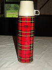 VINTAGE PICNIC FOOD COFFEE DRINKS 1973 KING SEELEY PLAID 13 3 4 HIGH THERMOS