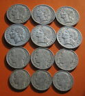 OLD COINS OF FRANCE WORLD WAR II -  LOT OF NINE MIX 30