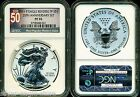 2011 P SILVER EAGLE NGC PF70 REVERSE PROOF 25TH ANNIVERSARY SET A25 TOP 50 LABEL