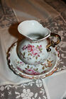 Vintage Hand painted  Lefton pitcher and Basin ~  Lefton China Pitcher