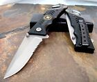 Milspec Saber Black Special Force Army Tactical Survival Hunting Pocket Knife