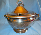 QUADRUPLE SILVER PLATE COVERED FOOTED TUREEN BY FORBES
