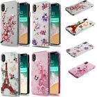 For Apple iPhone XS Max TUFF SHINE Hybrid Hard Case Rubber Phone Cover Accessory