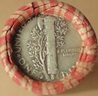 Old Estate Pennies Wheat roll Silver MERCURY DIME and Indian Head cent ends #24