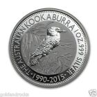 NEW SILVER BULLION 999 COIN 1 OZ PERTH MINT KOOKABURRA 2015 COINS INGOT BAR BAG