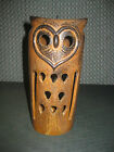 VINTAGE 1960'S - 70'S POTTERY CERAMIC OWL LANTERN CANDLE HOLDER MADE IN JAPAN