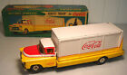 VINTAGE BATTERY OPPERATED TIN COCA-COLA ROUTE TRUCK WITH BOX *ALLEN HADDOCK CO.