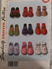 Uncut Simplicity 2867 Vintage Style Felt Booties Pattern for Baby