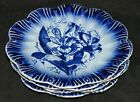 FLOW BLUE PLATES MARKED VICTOR TRE ENGLAND ARE A REPRODUCTION OF OLD PATTERN (4)