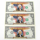 LOT of THREE COLOR DOLLAR BILL $1 U.S. BANK NOTE COLLECTIBLE MINT IN BILL SLIPS