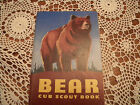 CUB SCOUT BOOK(BEAR) 1954.GOOD CONDITION