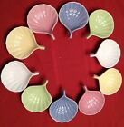 Set of 10 Pier 1 Pastel Shell Dish Condiment Sauce Dip Dishes Decorative Serving