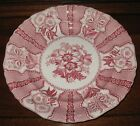 c.1828-1841 RED STAFFORDSHIRE TRANSFER WARE PLATE AMARYLLIS JOSEPH HEATH 9-1/4