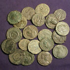 Lot of 20 uncleaned, semi-cleaned, cleaned Roman bronze coins - AE3, AE4 #5
