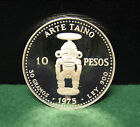 1975 Dominican Republic 10 Pesos Proof 90% Silver Coin - Rare Low Mintage