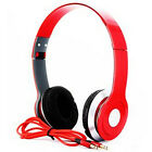 Red Adjustable Over-Ear Earphone Headset 3.5mm For iPod iPhone MP3 MP4 5G 4Th 5S