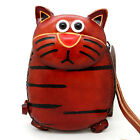 New Cute Genuine Leather Handmade Cat Money Coin Purse Wallet Kid Gift ZP06