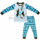 Frozen Olaf 2pcs Kids Boys Girls Pajamas Sets Top + Pants Sleepwear Homewear 2-7