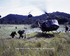 VIETNAM WAR PHOTO US ARMY COMBAT TROOPS ASSAULT HUEY HELICOPTERS 8x10  #21514