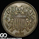 1867 Two Cent Piece, Reverse Planchet Flaw, ** Free Shipping!
