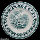 Staffordshire Doll Dinner Set Plate 1850 FISHERS Fishing Green Cows Transferware