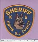 Union County New Jersey State of NJ Sheriff Canine K9 Unit Dog Police Patch