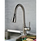 Kitchen Sink Faucet Pull Out Spray Mixer Tap Brushed Nickel - MS7