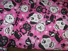 Cats and Dogs Snuggle Flannel Fabric1 YardPinkBlack10 14