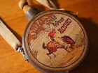 WILD WEST COUNTRY WESTERN RODEO COWBOY BUCKING BRONCO CANTEEN Rustic Home Decor